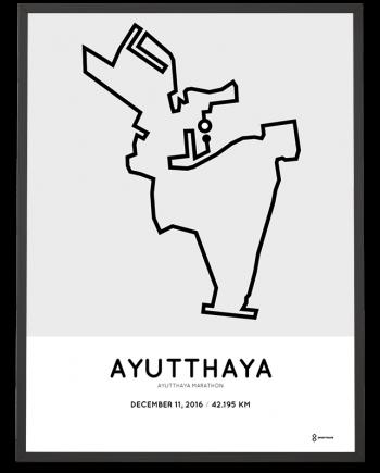2016 Ayutthaya marathon course poster