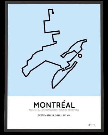 2016 Montreal half marathon course poster