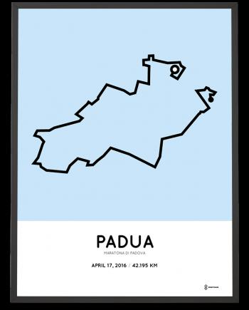 2016 Maratona di Padova course poster