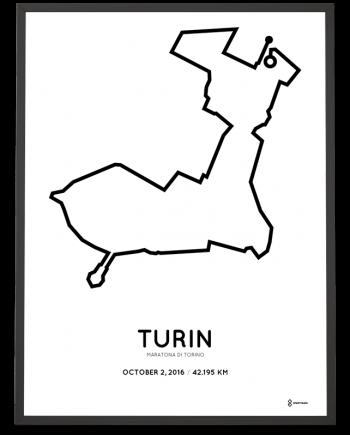 2016 Maratona di Torino course poster