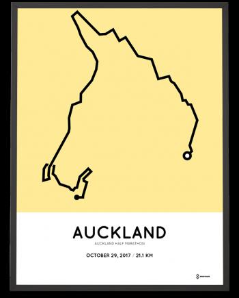 2017 Auckland half marathon course poster