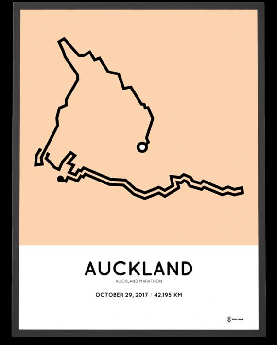 2017 Auckland marathon route print