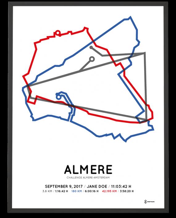 2017 Challenge Almere-Amsterdam course parcours print