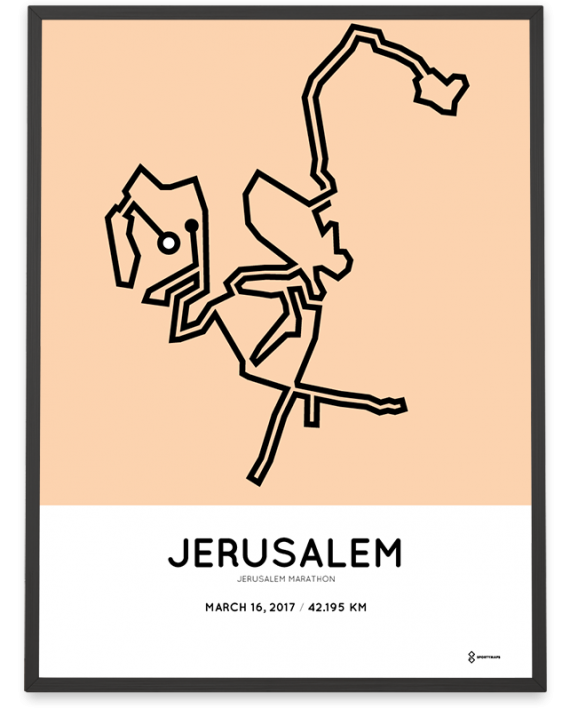 2017 Jerusalem marathon course poster