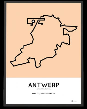 2018 Antwerp marathon course poster
