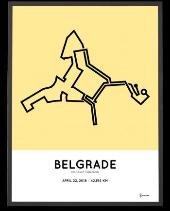2018 Belgrade marathon course poster