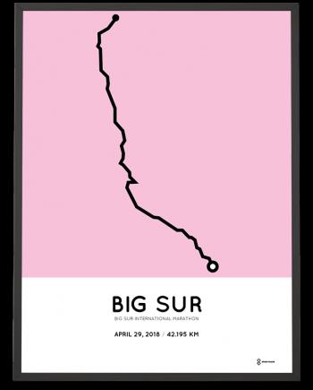 2018 Big Sur marathon course poster