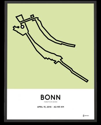 2018 Bonn marathon strecke map poster