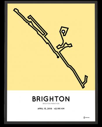 2018 Brighton marathon course poster