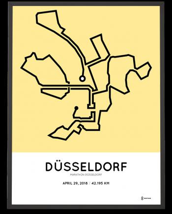 2018 Dusseldorf marathon strecke route poster