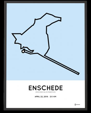2018 Enschede halve marathon parcours poster