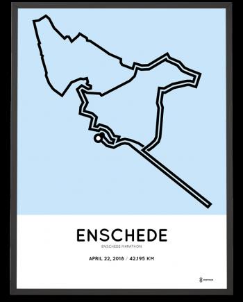 2018 Enschede marathon parcours poster