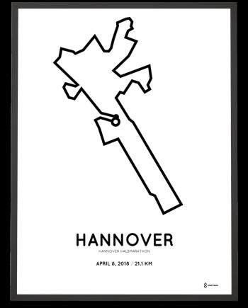 2018 Hannover halbmarathon strecke map poster