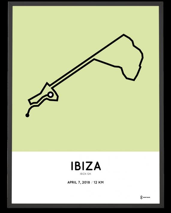 2018 Ibiza 12k course poster
