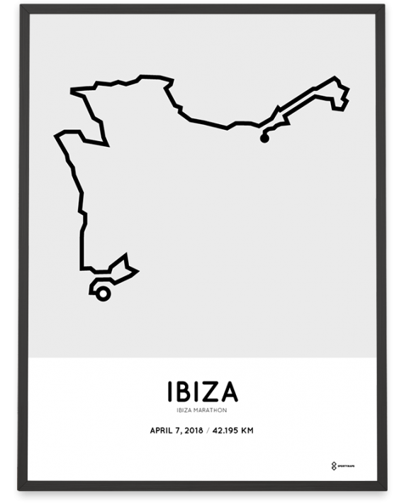 2018 Ibiza marathon route poster