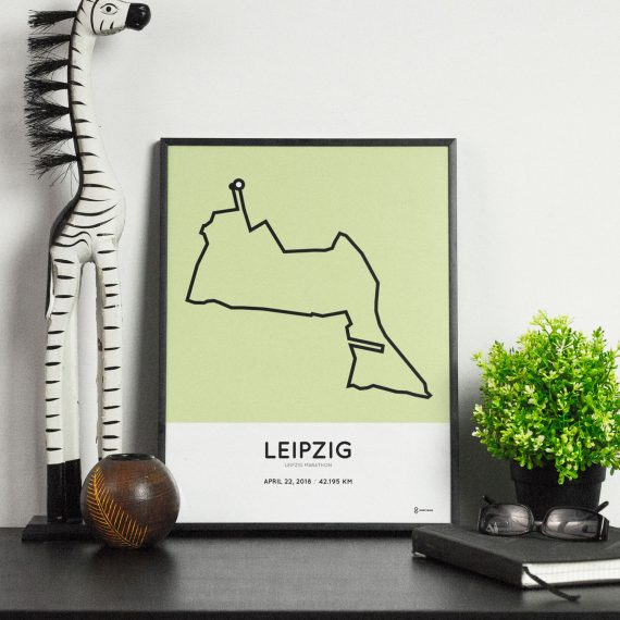 2018 Leipzig marathon strecke print