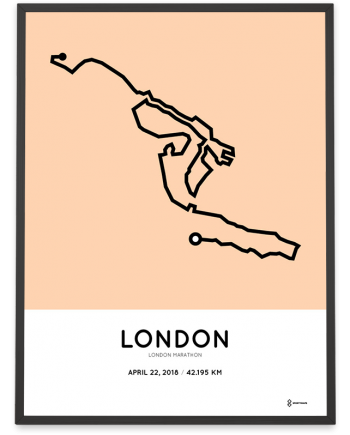 2018 London marathon course poster