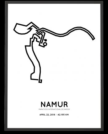 2018 Marathon de Namur course poster