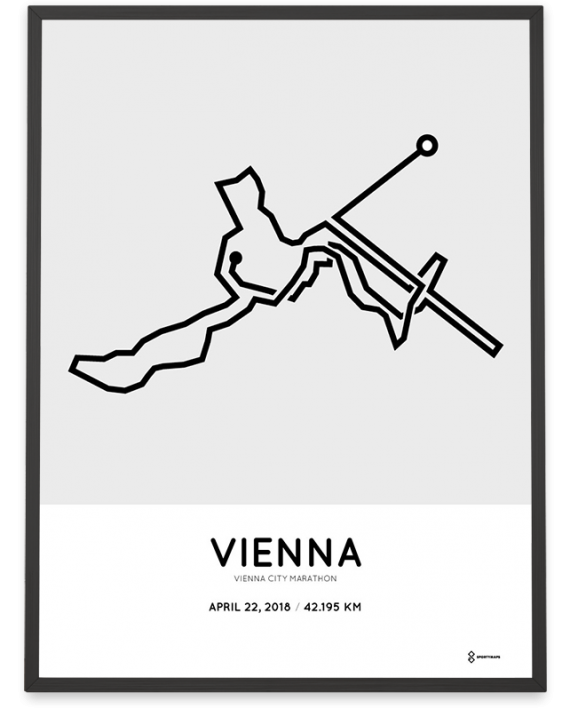 2018 Vienna City marathon course poster