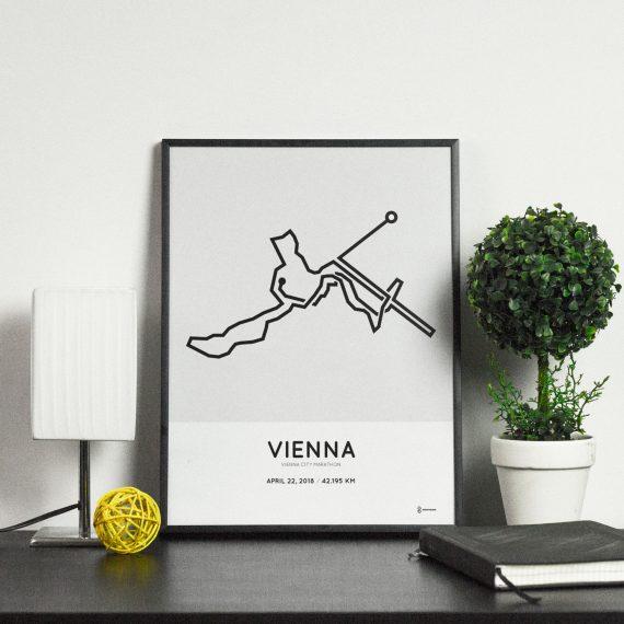 2018 Vienna City marathon strecke poster