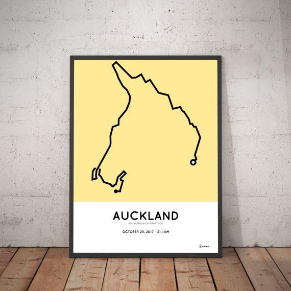 2017 Auckland half marathon route print