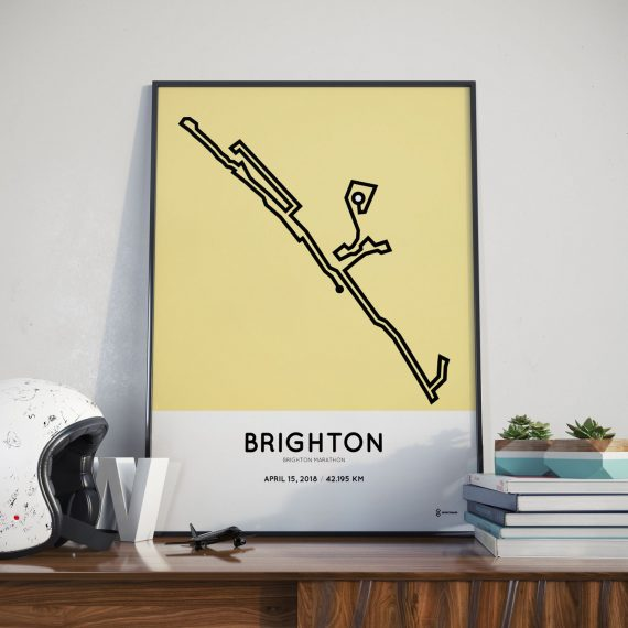 2018 Brighton marathon course print