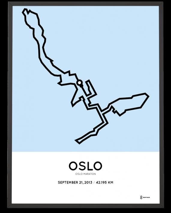 2013 Oslo marathon course poster