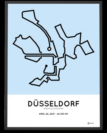2015 Marathon Dusseldorf route poster