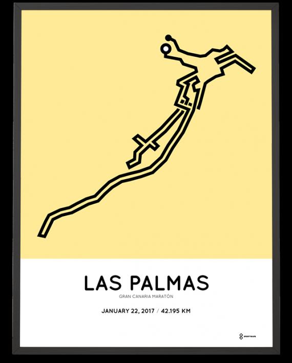 2017 Gran Canaria maraton course poster