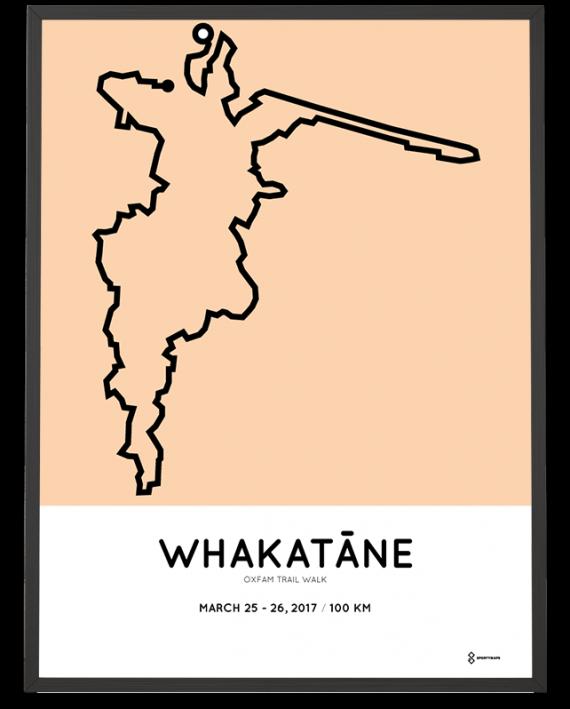 2017 Whakatane Oxfam trail walk course poster
