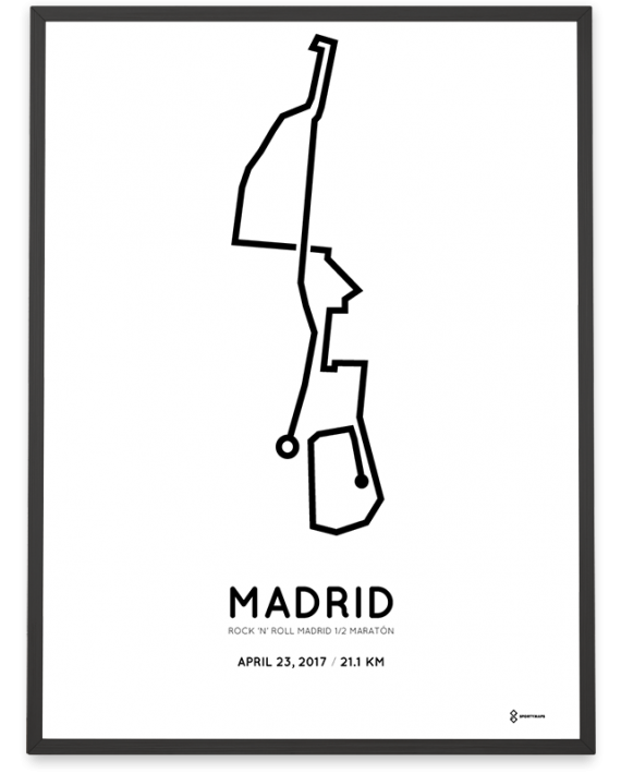 2017 madrid half marathon course poster