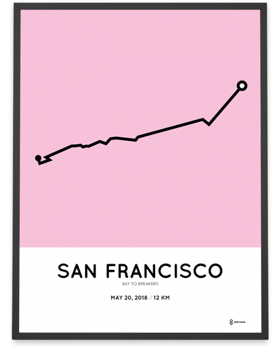2018 Bay to breakers 12km course poster