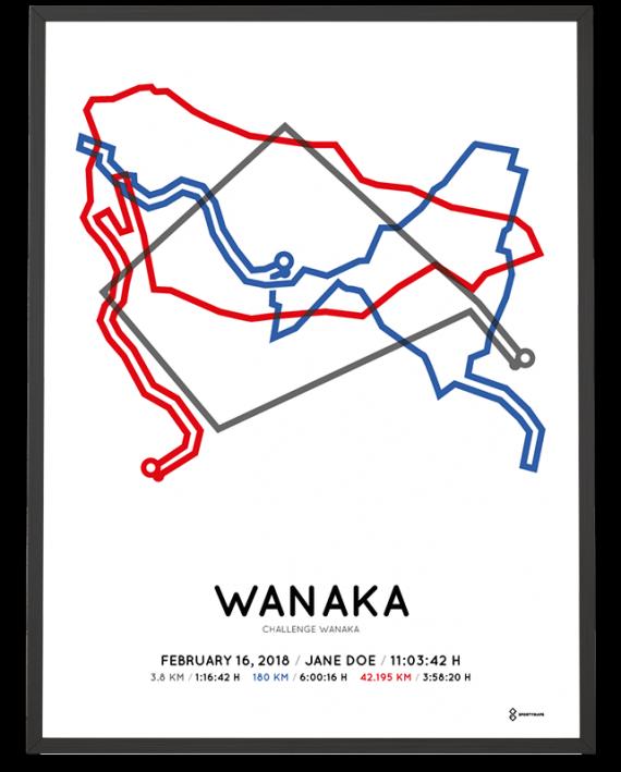 2018 Challenge Wanaka course print