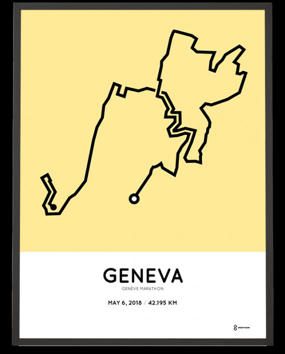 2018 Geneve marathon course print