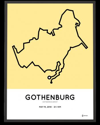 2018 Goteborgsvarvet halv marathon course poster