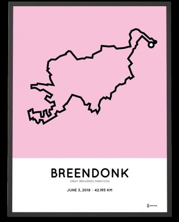 2018 Great Breweries marathon route poster