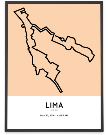 2018 Lima 42k course poster