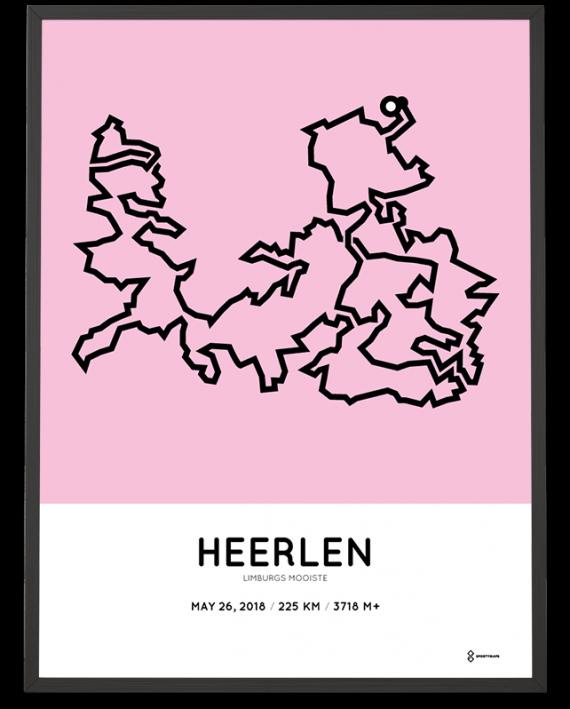 2018 Limburgs mooiste 225km route print