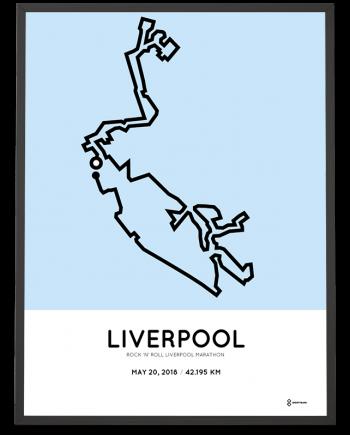 2018 Liverpool marathon course poster