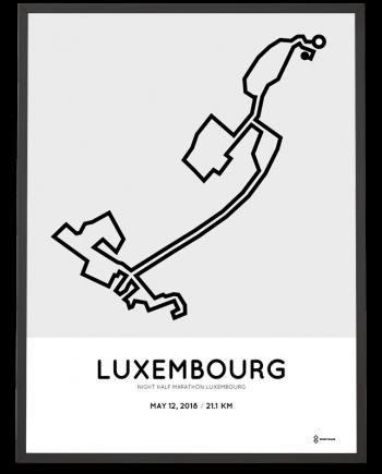 2018 Luxembourg half marathon course poster