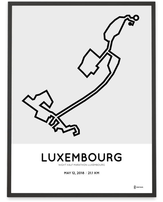 2018 Luxembourg half marathon course poster