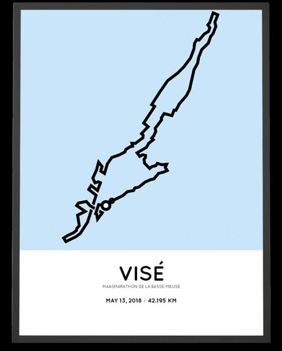 2018 Maasmarathon parcours poster