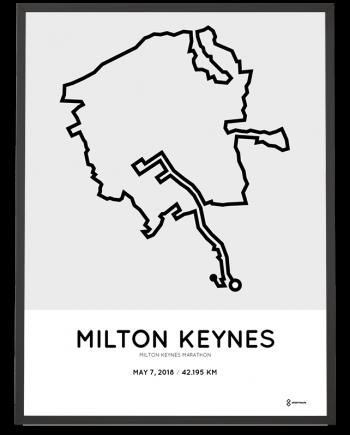 2018 Milton Keynes marathon course poster
