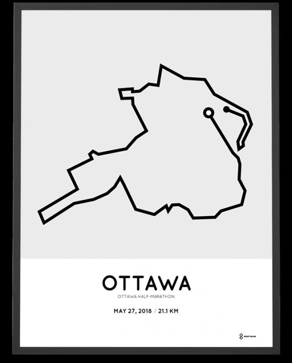 2018 Ottawa half marathon course poster