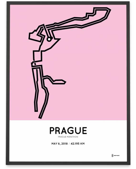 2018 Prague marathon route poster