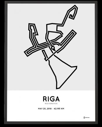 2018 Riga marathon route poster