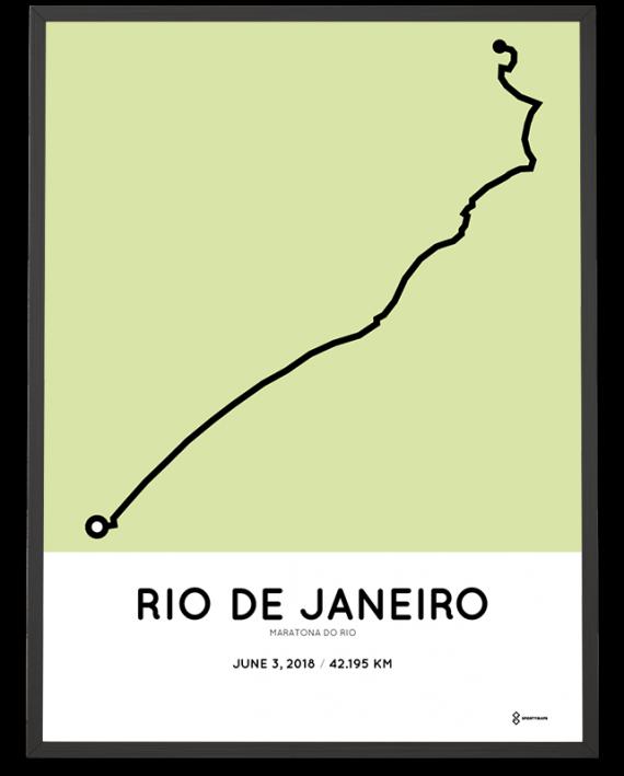 2018 maraton do rio course poster