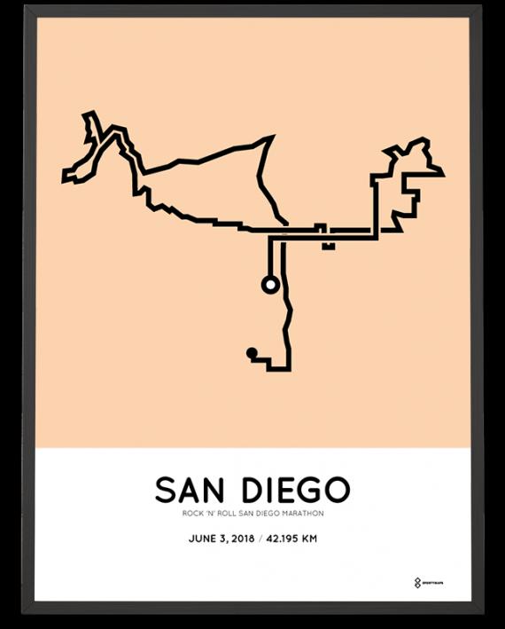 2018 San Diego marathon course poster
