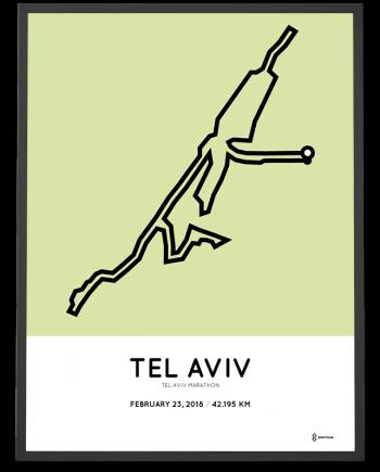 2018 Tel Aviv marathon route poster