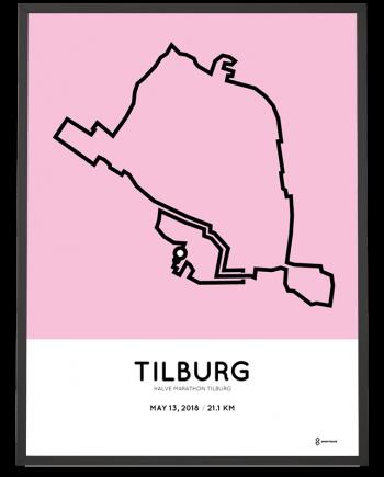 2018 Halve marathon Tilburg route poster